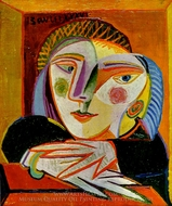 Tete de Femme painting reproduction, Pablo Picasso (inspired by)