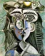 Tete de Femme au Chapeau I painting reproduction, Pablo Picasso (inspired by)
