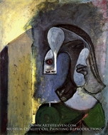 Tete de Femme aux Deux Profils painting reproduction, Pablo Picasso (inspired by)