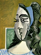 Tete de Femme (Jacqueline) I painting reproduction, Pablo Picasso (inspired by)
