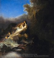 The Abduction of Proserpina painting reproduction, Rembrandt Van Rijn