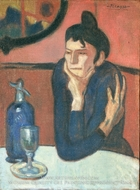 The Absinthe Drinker by Pablo Picasso (inspired by)