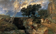 The Abyss, Landscape painting reproduction, Paul Huet