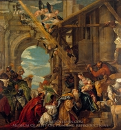 The Adoration of the Kings painting reproduction, Paolo Veronese