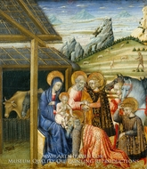 The Adoration of the Magi painting reproduction, Giovanni Di Paolo
