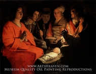 The Adoration of the Shepherds by Georges De La Tour
