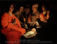 The Adoration of the Shepherds painting reproduction, Georges De La Tour