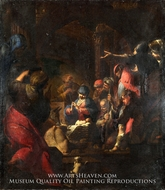 The Adoration of the Shepherds painting reproduction, Giovanni Battista Spinelli