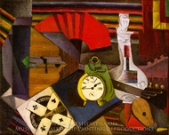 The Alarm Clock painting reproduction, Diego Rivera