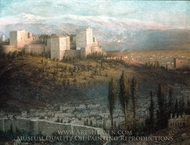The Alhambra, Granada, Spain painting reproduction, John Ferguson Weir