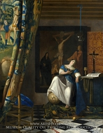 The Allegory of Faith by Jan Vermeer