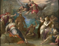 The Amazement of the Gods painting reproduction, Hans Von Aachen