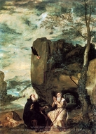 The Anchorites of Saint Anthony the Abbot and Saint Paul the Hermit painting reproduction, Diego Velazquez