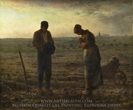 The Angelus painting reproduction, Jean-Francois Millet