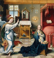 The Annunciation painting reproduction, Joos Van Cleve
