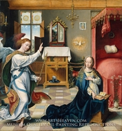 The Annunciation by Joos Van Cleve