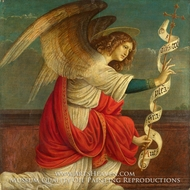 The Annunciation - The Angel Gabriel by Gaudenzio Ferrari