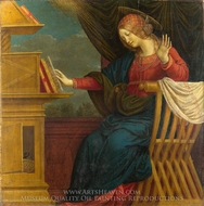 The Annunciation - The Virgin Mary painting reproduction, Gaudenzio Ferrari