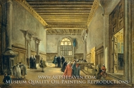 The Antechamber of the Sala del Maggior Consiglio painting reproduction, Francesco Guardi