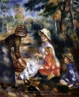 The Apple Seller painting reproduction, Pierre-Auguste Renoir