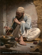 The Arab Jeweler painting reproduction, Charles Sprague Pearce