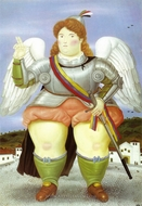 The Archangel Gabriel painting reproduction, Fernando Botero