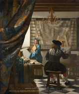 The Art of Painting painting reproduction, Jan Vermeer