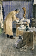 The Artist's Father in the Studio painting reproduction, Francis Luis Mora