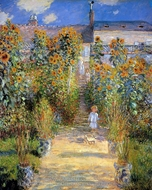 The Artist's Garden at Vetheuil painting reproduction, Claude Monet
