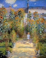The Artist's Garden at Vetheuil by Claude Monet