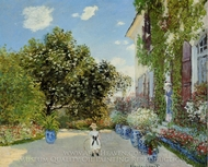 The Artist's House at Argenteuil painting reproduction, Claude Monet