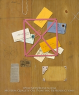 The Artist's Letter Rack by William Michael Harnett