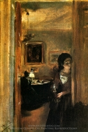 The Artist's Sisters painting reproduction, Adolph Von Menzel