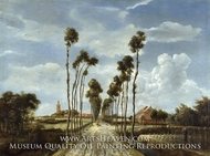 The Avenue at Middleharnis by Meindert Hobbema