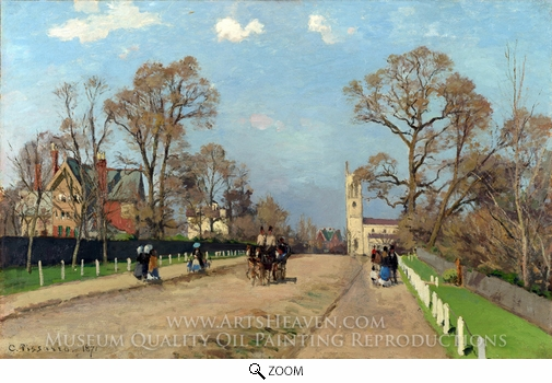 Painting Reproduction of The Avenue, Sydenham, Camille Pissarro