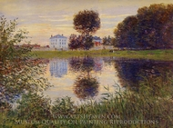 The Ball-Shaped Tree Argenteuil painting reproduction, Claude Monet