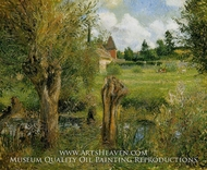 The Banks of the Epte at Eragny by Camille Pissarro