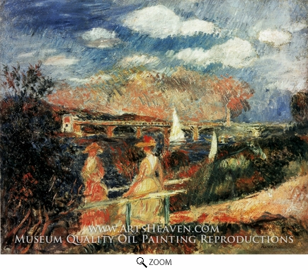 Painting Reproduction of The Banks of the Seine at Argenteuil, Pierre-Auguste Renoir