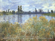 The Banks of the Seine Near Vetheuil by Claude Monet
