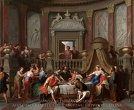 The Banquet of Cleopatra painting reproduction, Gerard Hoet