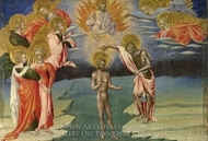 The Baptism of Christ - Predella Panel painting reproduction, Giovanni Di Paolo