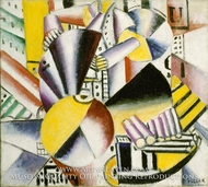 The Bargeman painting reproduction, Fernand Leger