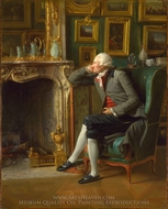 The Baron de Besenval in his Salon de Compagnie painting reproduction, Henri-Pierre Danloux