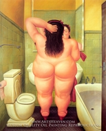 The Bath painting reproduction, Fernando Botero