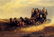 The Bath To London Coach On the Open Road painting reproduction, Hendreson Charles Cooper