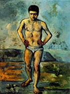 The Bather painting reproduction, Paul Cezanne