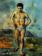 The Bather by Paul Cezanne