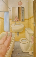 The Bathroom painting reproduction, Fernando Botero