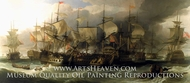 The Battle of Cape St. Vincent, 14 February 1797 painting reproduction, Sir William Allan