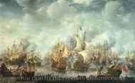 The Battle of Scheveningen painting reproduction, Jan Abrahamsz